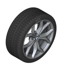 "G05 X5, G06 X6 19"" Style 735 Ferric Grey Winter Wheel/Tire - 9x19 - BMW (36-11-2-462-592)"