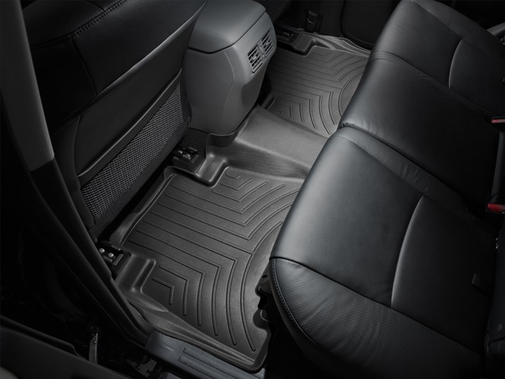 2012 - 2015 Toyota Camry Black Rear FloorLiner - Custom (444002)