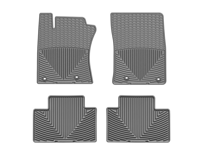 2012 - 2015 Toyota Camry Grey Front and Rear Rubber Mats - Custom (WTCG255256)