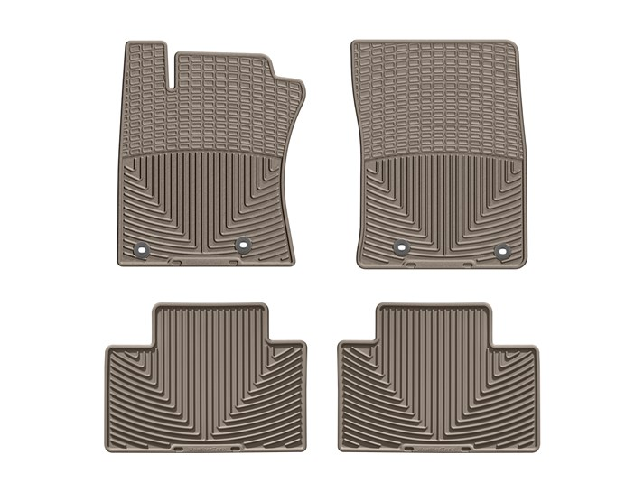2012 - 2015 Toyota Camry Tan Front and Rear Rubber Mats - Custom (WTCT255256)
