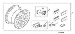 "18"" Wheel - Honda (08W18-TA0-101A)"
