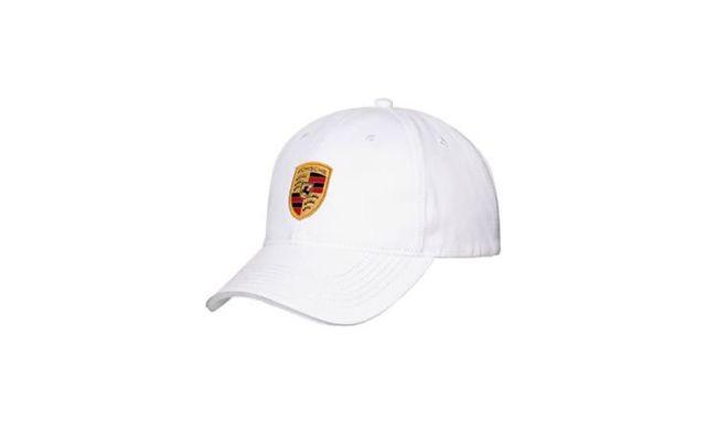 WHITE PORSCHE CREST ADJUSTABLE CAP - Porsche (WAP-080-004-0C)