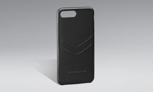 Cover iPhone Black Leather - Porsche (WAP-030-023-0K)