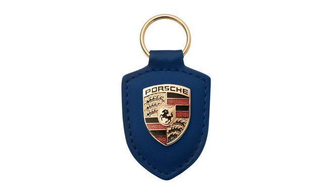 KEY TAG CREST BLUE - Porsche (WAP-050-095-0E)