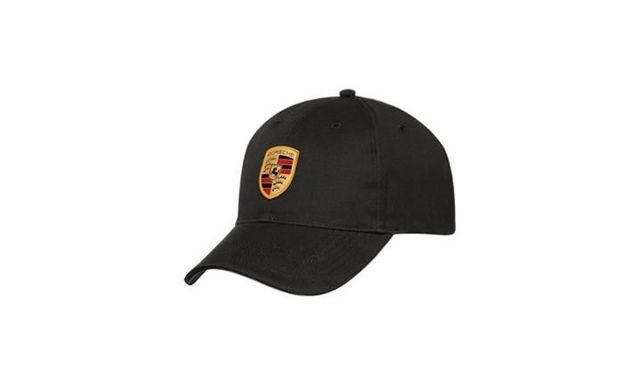 BLACK PORSCHE CREST ADJUSTABLE CAP - Porsche (WAP-080-005-0C)