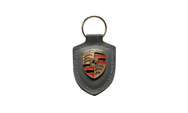 KEY TAG CREST GREY - Porsche (WAP-050-097-0H)