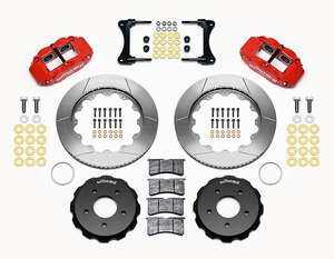 07-18 Jeep Wrangler Front Big Brake Kit Calipers Slotted Rotors Red Wilwood - Mopar (140-12440-R)