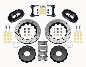07-18 Jeep Wrangler Front Big Brake Kit Calipers Slotted Rotors Black Wilwood D - Mopar (140-12440-D)