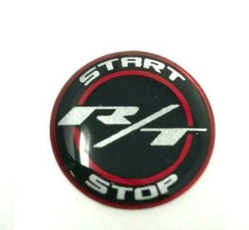 Challenger Charger Journey Starter Push Start Button Decal Emblem R/T Black Red - Mopar (SWMPB32)