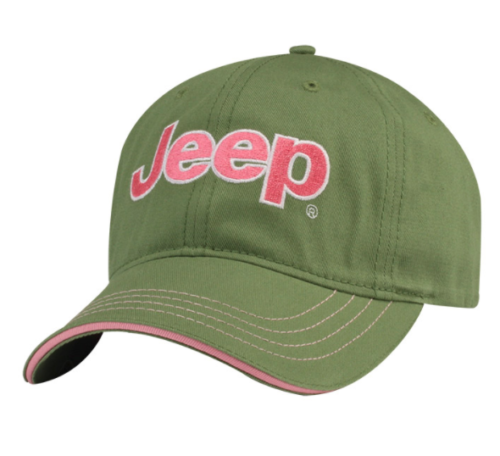 New Jeep ® Ladies Lady Fun Cap Baseball Hat Cap Embroidered Green Pink Mopar - Mopar (11G1X)