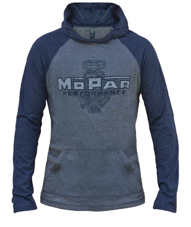 New Mopar Performance Vintage Engine Hooded Long Sleeve T-Shirt Shirt Navy XL - Mopar (A72319942X)