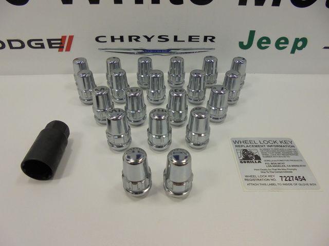 Challenger Charger 300 Chrome Gorilla Lock Locking Lug Nuts 14x1.5 Acorn System - Mopar (71643N)