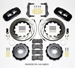 Challenger Charger Rear Big Brake Kit Calipers Slotted Rotors Black Wilwood - Mopar (140-14068-D)
