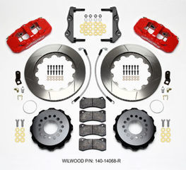 Challenger Charger Rear Big Brake Kit Calipers Slotted Drill Rotors Red Wilwood - Mopar (140-14068-DR)