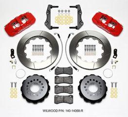 Challenger Charger Rear Big Brake Kit Calipers Slotted Rotors Red Wilwood 4Pt - Mopar (140-14068-R)