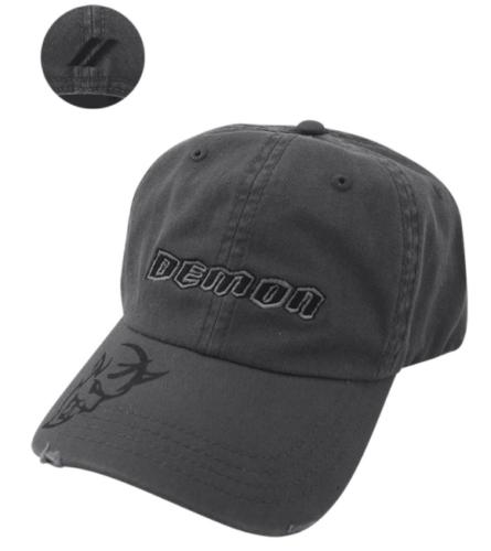 New Dodge Challenger Demon Distressed Charcoal Cap Baseball Hat One Size Mopar - Mopar (125XT)