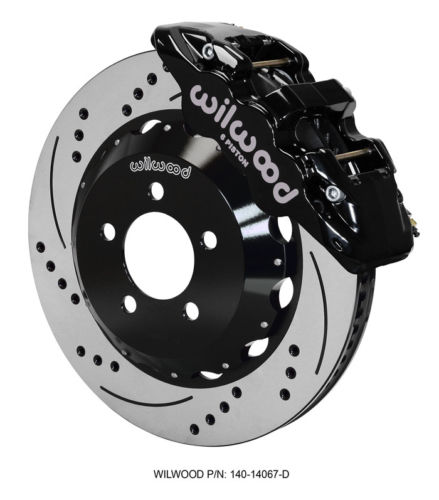 Challenger Charger Front Big Brake Kit Calipers Slotted Drill Rotors Wilwood Bk - Mopar (140-14067-D)