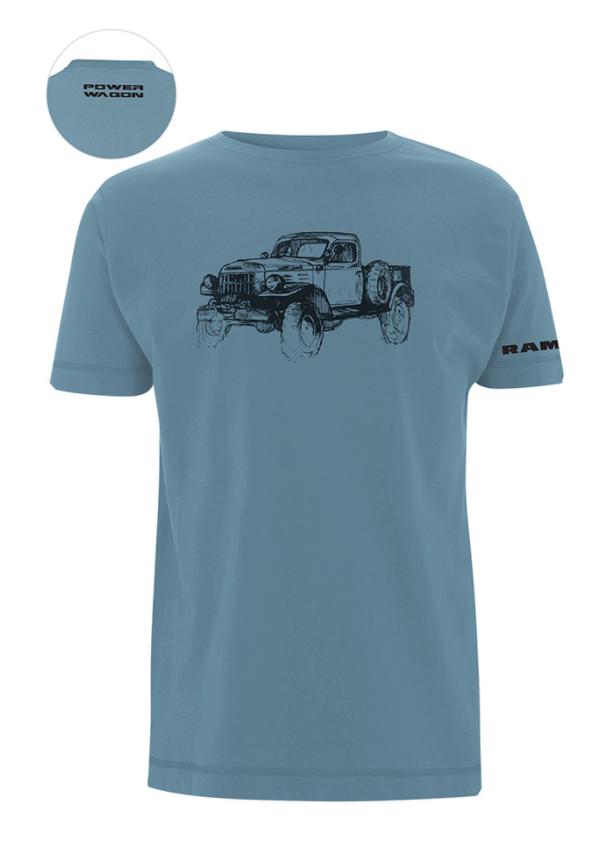 New Men's Dodge Ram Men's Power Wagon Sketch T-shirt T Shirt Slate Mopar Large - Mopar (121MHL)
