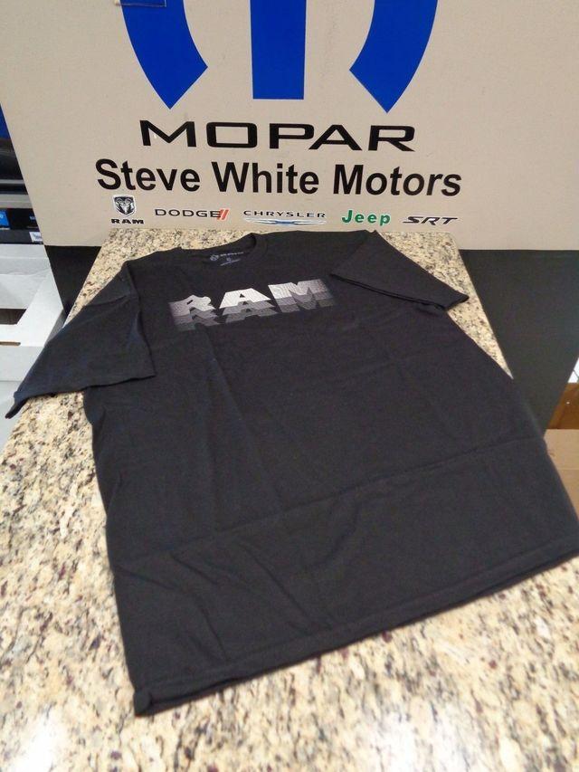 New Dodge Ram Truck Grey Visors T-Shirt T Shirt Crew Neck Ram Logo XL Black OEM - Mopar (121M8X)