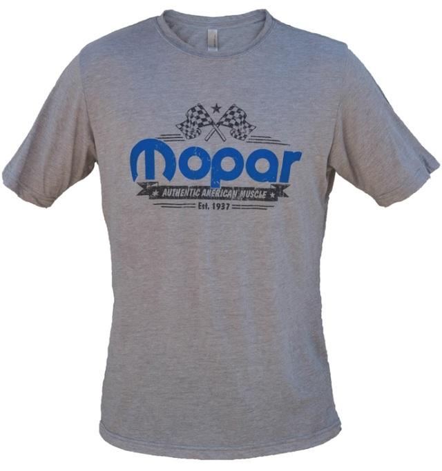New Mopar American Muscle Checkered Flag Tee Shirt Short Sleeve Large - Mopar (A72832542L)
