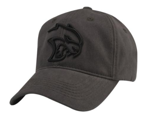 New Dodge Hellcat Challenger Twill Cap Gray & Black Baseball Hat One Size Mopar - Mopar (1241X)