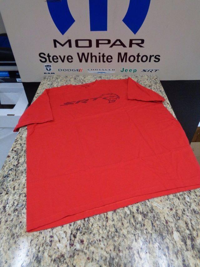 New Dodge Men's SRT Hellcat Logo Inside Out Print Crew Neck T-Shirt Red XL OEM - Mopar (121L4X)
