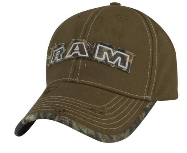 New Ram Distressed Camo Cap Baseball Hat Cap Mossy Oak One Size Mopar Cotton - Mopar (11HW4)