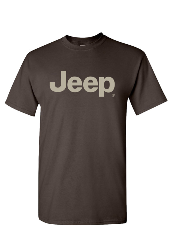 New Mopar Jeep Logo T-Shirt Shirt T Shirt Short Sleeve Brown Large Off Road - Mopar (122L5L)