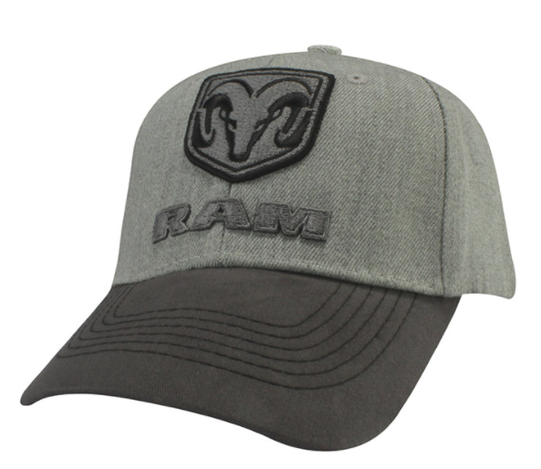 New Ram Heathered Wool Cap Baseball Hat Cap Ballcap Raised Emblem One Size Fits - Mopar (126VH)
