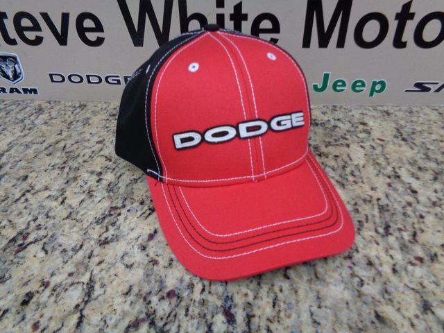 New Dodge Baseball Hat Cap Ballcap Red Black Logo & Stripes One Size Fits Most - Mopar (11COM)