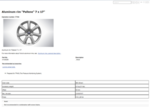 Aluminum Rim Pallene 7 X 17 Inch - Silver