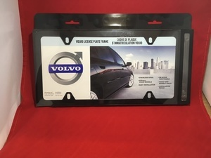 License Plate Frame - Black - Slimline - Volvo (8640219)