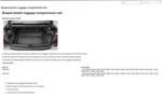 Cargo Tray - Molded - Plastic - W/ Spare Tire