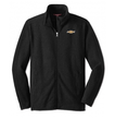 Black Full-zip Microfleece with Gold Chevrolet