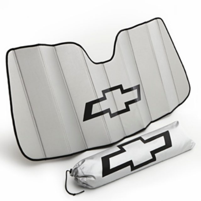 Front Sunshade Package in Silver with Black Bowtie - GM (22987432)