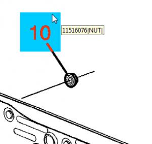 Suspension Stabilizer Bar Link Nut - GM (11516076)