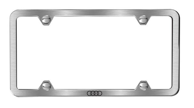 Slimline License Plate Frame With Audi Rings - Audi (ZAW-071-801-D)