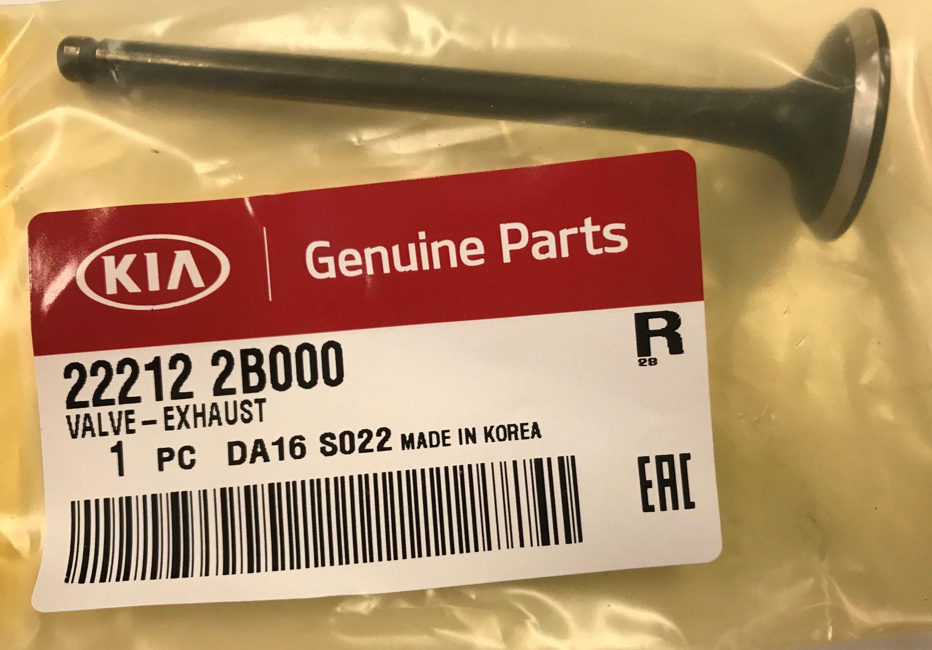 Exhaust Valve - Kia (22212-2B000)