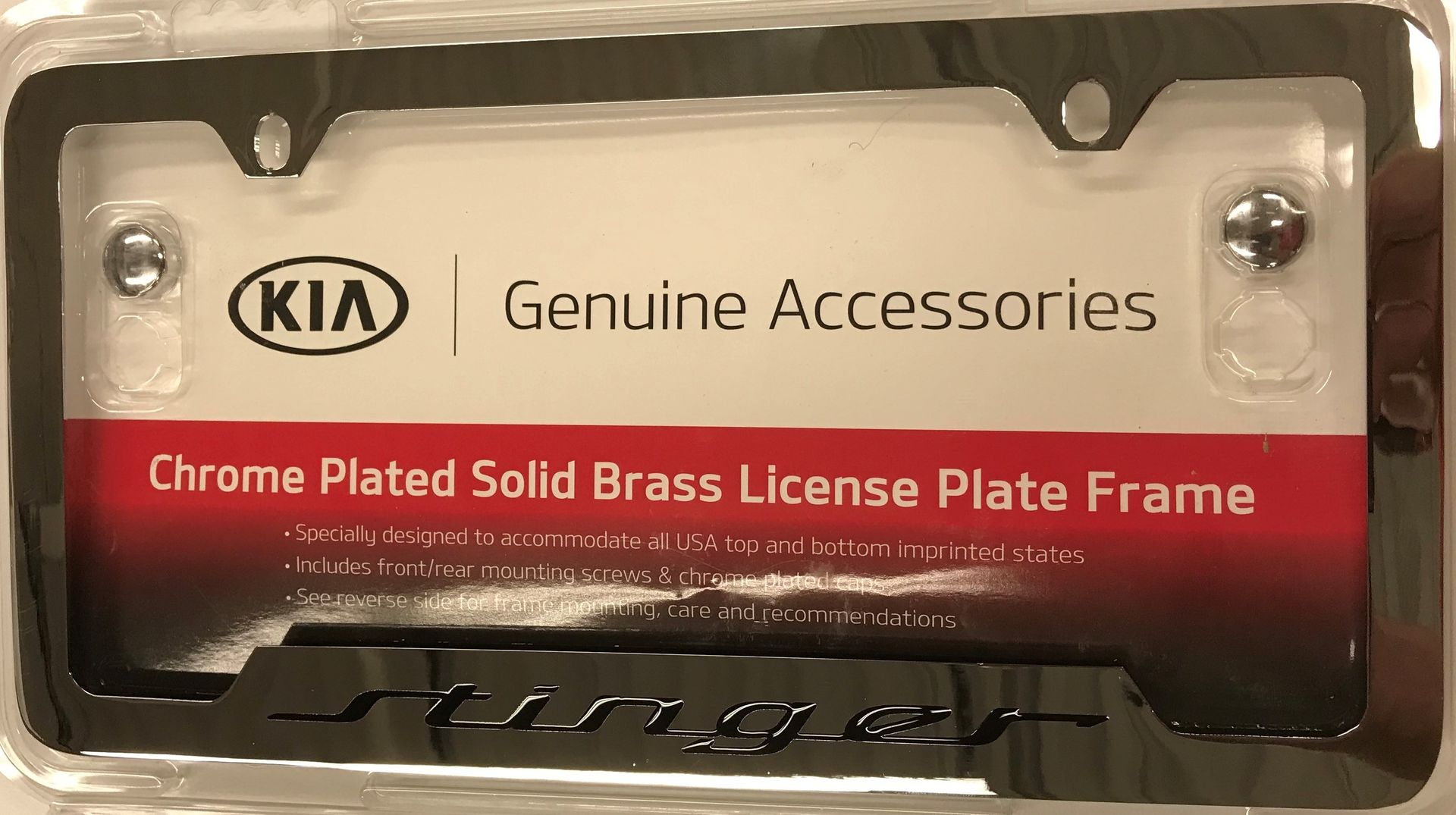 License Plate Frame, Lower Logo - Kia (UR017-AY002CK)