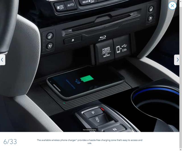 2019 2021 Honda 2019 2020 Oem Honda Pilot Passport Wireless Charging System 08u58 Tg7 100 Genuine Honda Parts