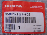 Start Stop Switch Assembly  same as 35881-TG7-A04 - Honda (35881-TG7-702)