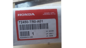 Left Front Door Molding Assembly (Drivers side) - Honda (72450-TR0-A01)