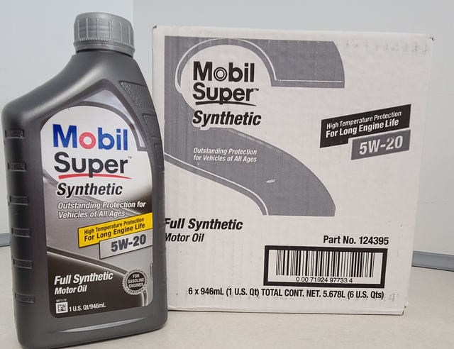 Mobil Super 5W20 Synthetic Motor Oil Case (6 Qts) - Nissan (5W20)