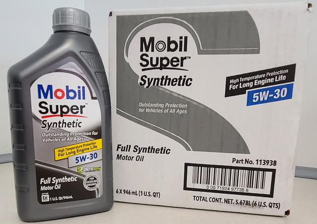 Mobil Super 5W30 Synthetic Motor Oil Case (6 Qts) - Nissan (5W30)