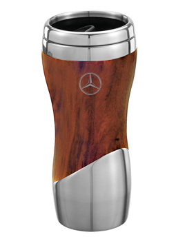 Double Wall Stainless Steel Wood Grain Tumbler - Mercedes-Benz (MHD-135-BR.)
