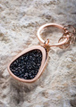 Crystal and Rose Gold Key Ring - Mercedes-Benz (MBK-820)