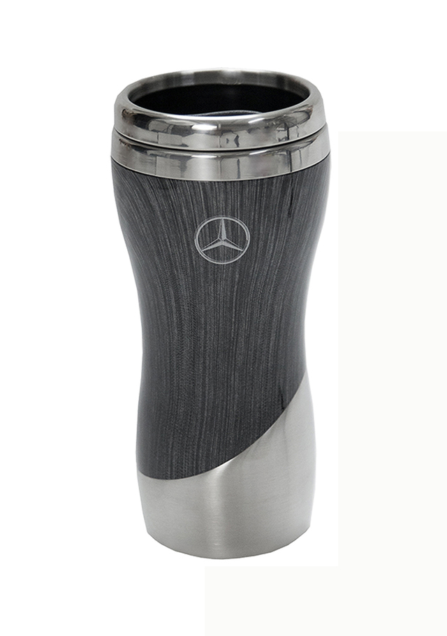 Double Wall Stainless Steel Wood Grain Tumbler (Grey) - Mercedes-Benz (MHD-135-GY)