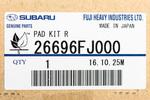 Brake Pads - Subaru (26696FJ000)