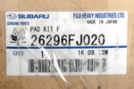 Brake Pads - Subaru (26296FJ020)