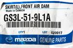 OEM NEW 2009-2013 Mazda 6 Driver Sd Front Lower Bumper Air Dam Skirt GS3L519L1A - Mazda (GS3L519L1A)